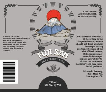 Fuji San Beer Label Design Maker 761e