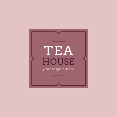 Tea House Logo Design Template 1345e