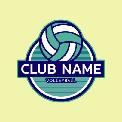 Simple Logo Maker for Volleyball Clubs 1499a