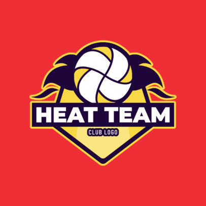 Volleyball Team Logo Maker with Cool Graphics 1499b