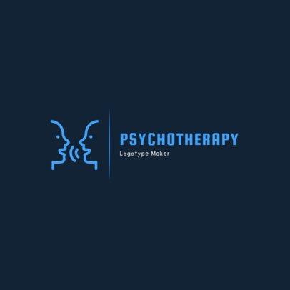 Simple Psychologist Logo Design Creator 1523d