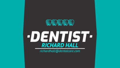 Simple Dentist Business Card Template 558c