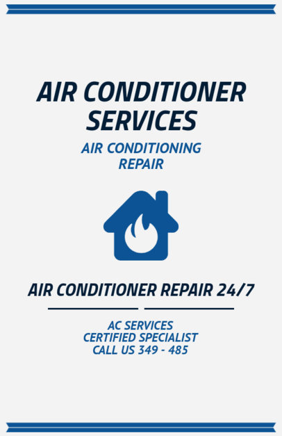 AC Repair Services Flyer Generator 730b