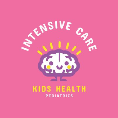 Pediatric Intensive Care Logo Maker 1532b