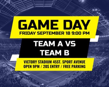 Vinyl Banner Design Maker for a Game Day Announcement 792
