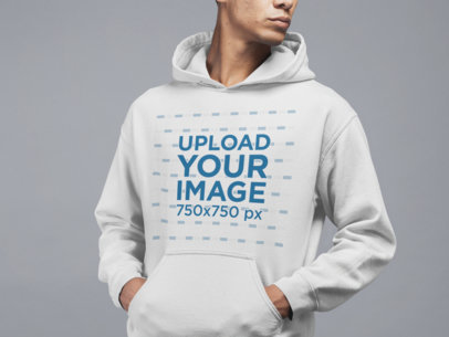 Studio Mockup Featuring a Man Wearing a Sweatshirt 21560
