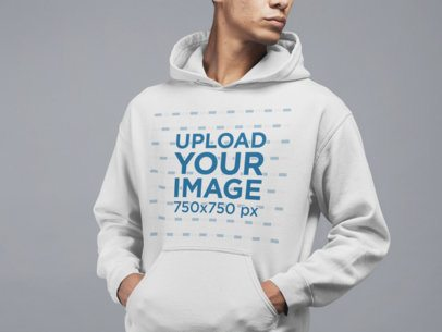 Studio Mockup Featuring a Man Wearing a Sweatshirt 21560