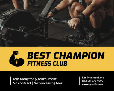 Vinyl Banner Design Template for Fitness Clubs 791
