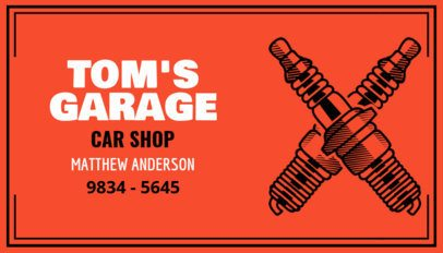 Car Shop Business Card Maker 557d