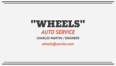 Auto Service Business Card Template 557e