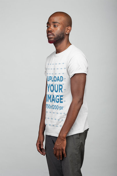 T-Shirt Mockup Featuring a Man with a Red Dyed Beard 21670