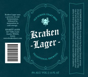 Craft Beer Label Template 766a-1819