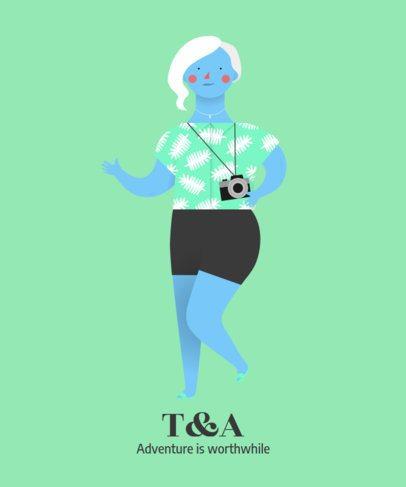 Adventurous Avatar Maker of a Traveling Woman 43b