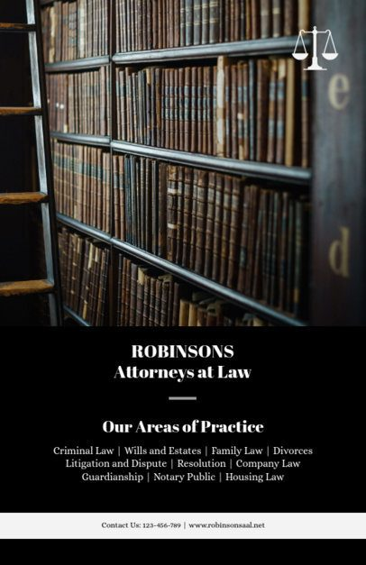 Law Firm Flyer Maker for Attorneys at Law 690b