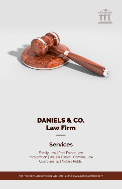 Law Firm Services Flyer Maker 690c