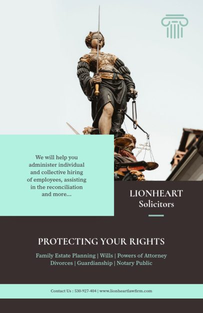 Law Flyer Template for Solicitors 690d