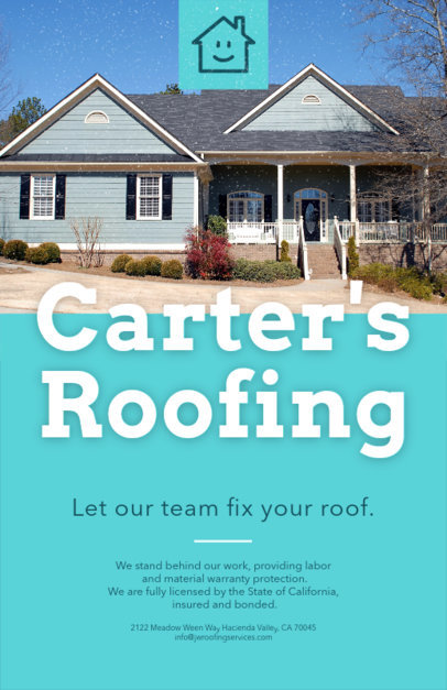 Flyer Maker for Roofing Services 739b