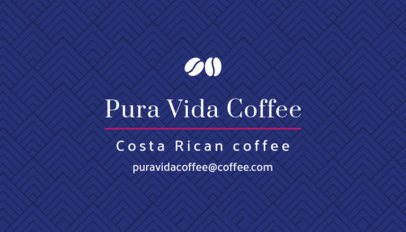 Specialty Coffee Shop Business Card Generator 570c