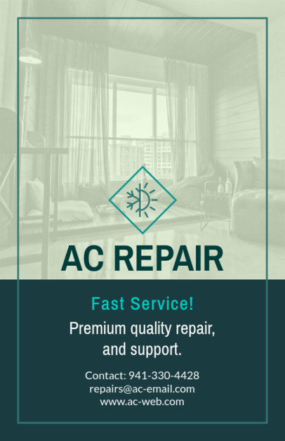 Flyer Creator for Fast AC Repair Service 731e