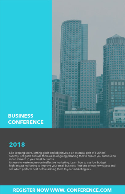 Online Flyer Maker for Corporate Business Conferences 98e
