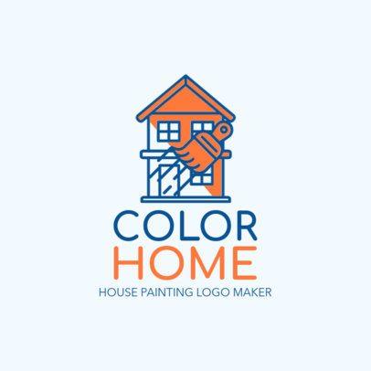 Home Painting Expert Logo Maker 1446a