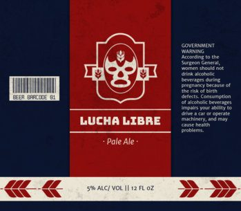 Lucha Libre Beer Label Template 765b