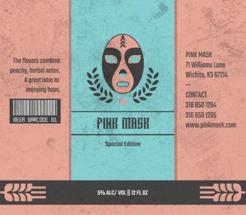 Beer Label Design Maker with Wrestling Mask 765c