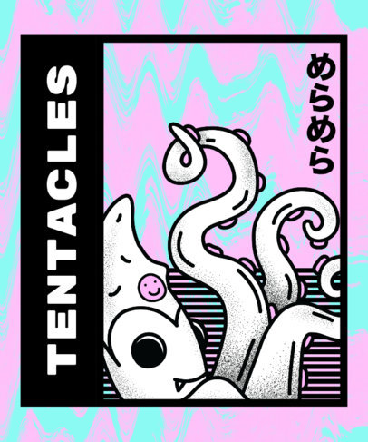 Octopus T-Shirt Design Maker 14c