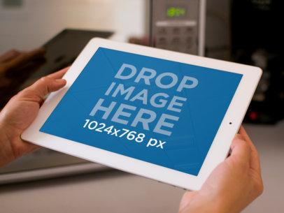 White iPad Retina Display Horizontal Microwave