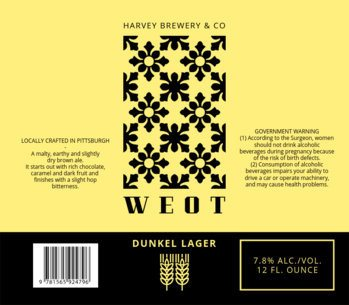 Beer Label Maker for a Dunkel Beer 773a