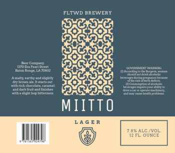 Beer Label Template with a Mosaic Pattern 773b