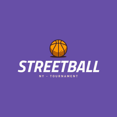 Street Basketball Logo Maker 1498e