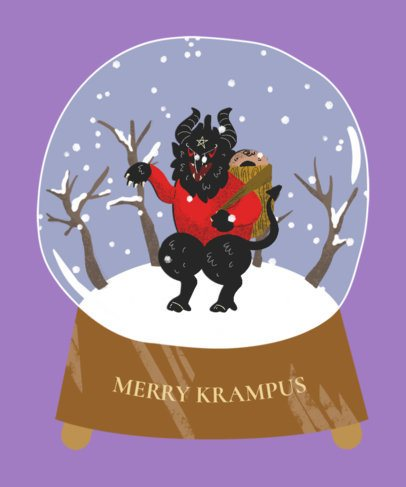 Krampus Christmas T-Shirt Design Maker 833b
