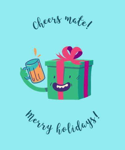 Xmas Tee Design Maker with Cute Christmas Present 836e