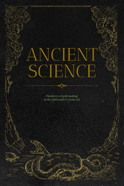Ancient Science Book Cover Template 539d