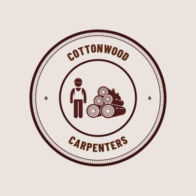 Carpentry Logo Design Template 1548