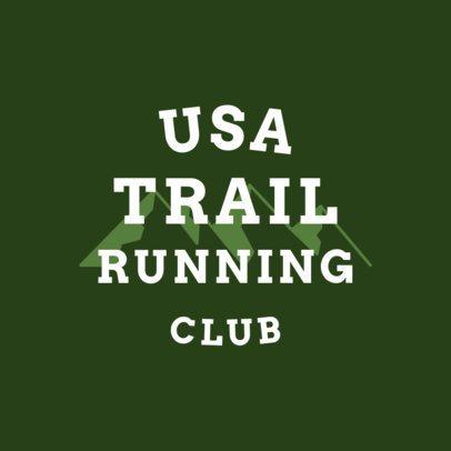 Trail Running Logo Maker 1542d