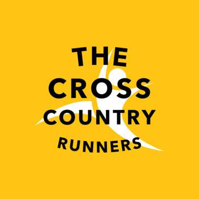 Cross Country Track Logo Template 1542e