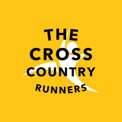 Cross Country Track Logo Template 1542e