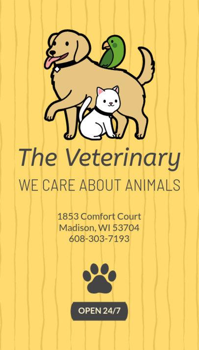 Veterinary Business Card Maker 184c