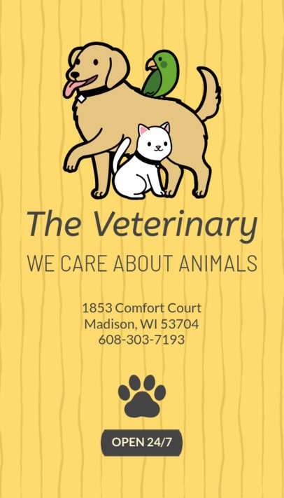 Veterinary Business Card Maker 184c