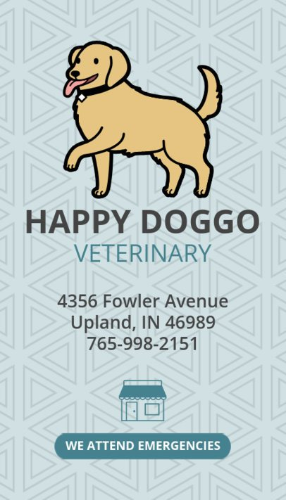 Pet Care Business Card Maker 184e
