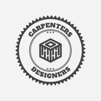 Carpenter Logo Maker for a Furniture Designer 1548b