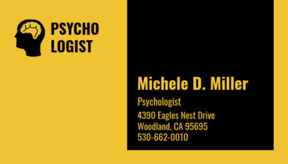 Clinical Psychologist Business Card Maker 193c