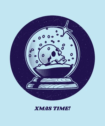 Ugly Xmas T-shirt Design Maker with Creepy Snow Globe Graphic 834d