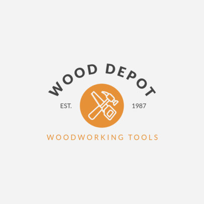 Woodwork Logo Design Maker for Woodworking Tools Store 1549b
