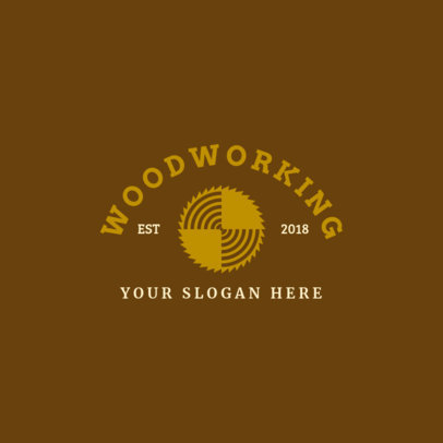 Woodworking Logo Maker with Log Graphic 1549e