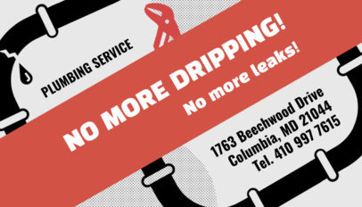 Plumbing Services Business Card Template 662a