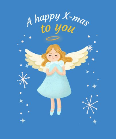 Angelic Christmas Tee Design Creator 827c