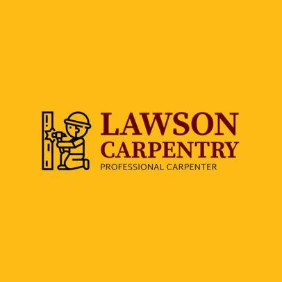Simple Carpentry Logo Template 1551d
